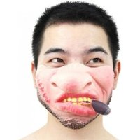 Funny Scary Vampire Mask Clown Latex Half Face Masks For Masquerade/Halloween Party Cosplay Costume Decoration Supplies Smile