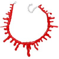 Halloween Party Bloody Short Necklace Blood Look Vampire Choker Prop